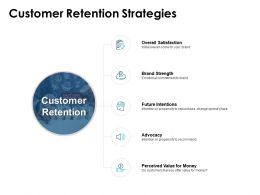 Customer Retention Strategies Brand Strength Advocacy Ppt Powerpoint Presentation Icon Images