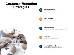 Customer Retention Strategies Brand Strength Overall Satisfaction Ppt Powerpoint Presentation Ideas