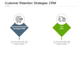 Customer Retention Strategies Crm Ppt Powerpoint Presentation Icon Templates Cpb