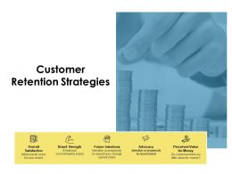 Customer Retention Strategies Future Intentions Ppt Powerpoint Presentation Icon Ideas