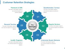 Customer Retention Strategies Ppt Design