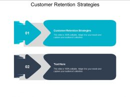 Customer Retention Strategies Ppt Powerpoint Presentation Gallery Graphics Template Cpb