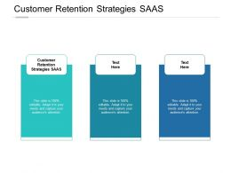 Customer Retention Strategies SAAS Ppt Powerpoint Presentation Model Cpb