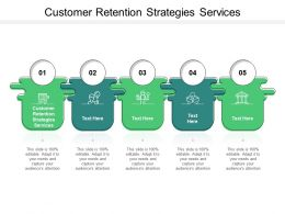 Customer Retention Strategies Services Ppt Powerpoint Presentation Icon Brochure Cpb