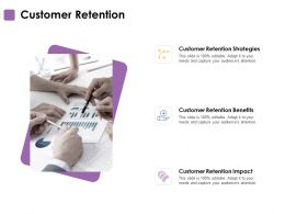 Customer Retention Strategy Benefit Ppt Powerpoint Presentation Ideas Deck