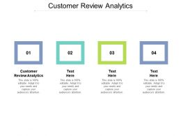 Customer Review Analytics Ppt Powerpoint Presentation Pictures Slide Download Cpb
