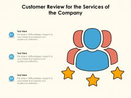 Customer Review For The Services Of The Company