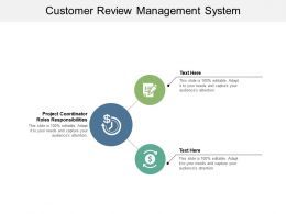 Customer Review Management System Ppt Powerpoint Presentation File Graphics Design Cpb