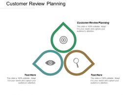 Customer Review Planning Ppt Powerpoint Presentation Styles Backgrounds Cpb