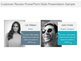 Customer Review Powerpoint Slide Presentation Sample