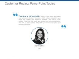 Customer Review Powerpoint Topics