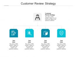 Customer Review Strategy Ppt Powerpoint Presentation File Visual Aids Cpb