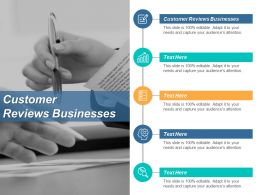 Customer Reviews Businesses Ppt Powerpoint Presentation Pictures Objects Cpb