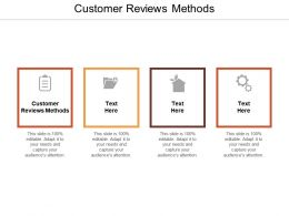 Customer Reviews Methods Ppt Powerpoint Presentation File Example File Cpb