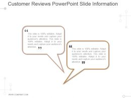 Customer Reviews Powerpoint Slide Information