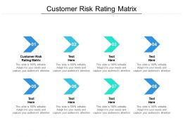Customer Risk Rating Matrix Ppt Powerpoint Presentation Outline Ideas Cpb
