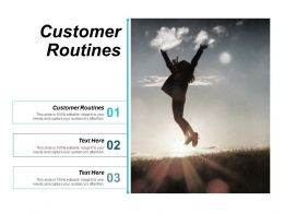 Customer Routines Ppt Powerpoint Presentation Slides Download Cpb
