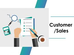 Customer Sales Ppt Inspiration Designs