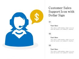 Customer Sales Support Icon With Dollar Sign