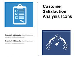 Customer Satisfaction Analysis Icons