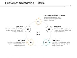 Customer Satisfaction Criteria Ppt Powerpoint Presentation Infographics Example Cpb