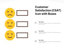 Customer Satisfaction CSAT Icon With Boxes