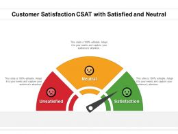 Customer Satisfaction CSAT With Satisfied And Neutral