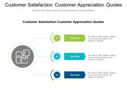 Customer Satisfaction Customer Appreciation Quotes Ppt File Design Templates Cpb