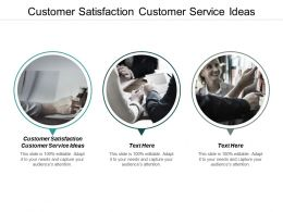 Customer Satisfaction Customer Service Ideas Ppt Powerpoint Presentation Gallery Aids Cpb