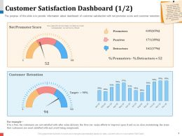 Customer Satisfaction Dashboard 437 Powerpoint Presentation Elements