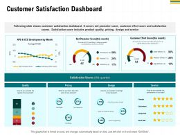 Customer Satisfaction Dashboard M2949 Ppt Powerpoint Presentation Outline Slide