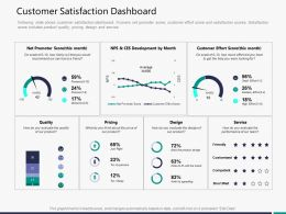 Customer Satisfaction Dashboard M3292 Ppt Powerpoint Presentation Objects
