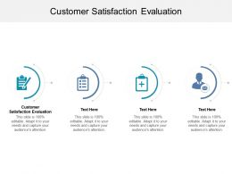 Customer Satisfaction Evaluation Ppt Powerpoint Presentation Pictures Backgrounds Cpb