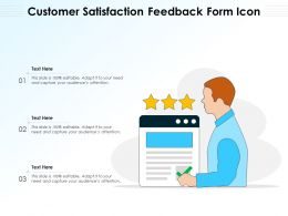 Customer Satisfaction Feedback Form Icon