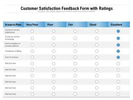 Customer Satisfaction Feedback Form With Ratings