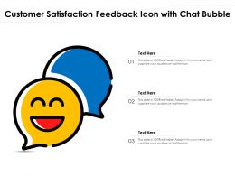 Customer Satisfaction Feedback Icon With Chat Bubble