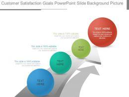Customer Satisfaction Goals Powerpoint Slide Background Picture