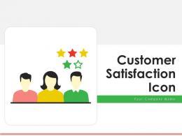 Customer Satisfaction Icon Employee Reviews Performance Indicator Measurement