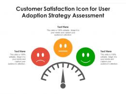 Customer Satisfaction Icon For User Adoption Strategy Assessment
