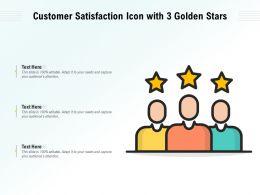 Customer Satisfaction Icon With 3 Golden Stars
