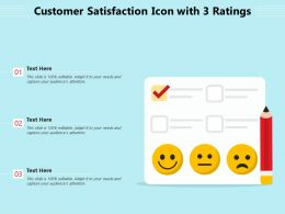 Customer Satisfaction Icon With 3 Ratings