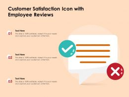Customer Satisfaction Icon With Employee Reviews
