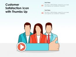 Customer Satisfaction Icon With Thumbs Up
