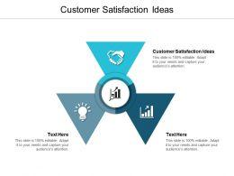 Customer Satisfaction Ideas Ppt Powerpoint Presentation Portfolio Deck Cpb