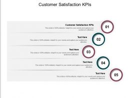 Customer Satisfaction KPIs Ppt Powerpoint Presentation Inspiration Good Cpb