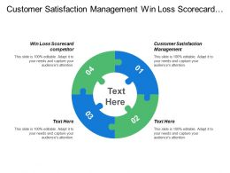 Customer Satisfaction Management Win Loss Scorecard Competitor Lead Conversion