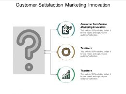 Customer Satisfaction Marketing Innovation Ppt Powerpoint Presentation Ideas Gridlines Cpb