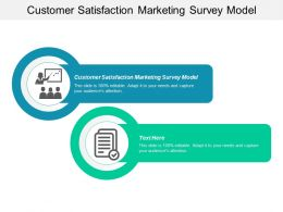 Customer Satisfaction Marketing Survey Model Ppt Powerpoint Presentation Infographics Infographic Template Cpb