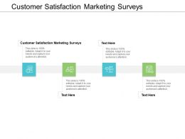 Customer Satisfaction Marketing Surveys Ppt Powerpoint Presentation Infographics Microsoft Cpb