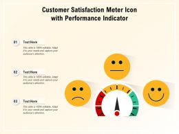 Customer Satisfaction Meter Icon With Performance Indicator